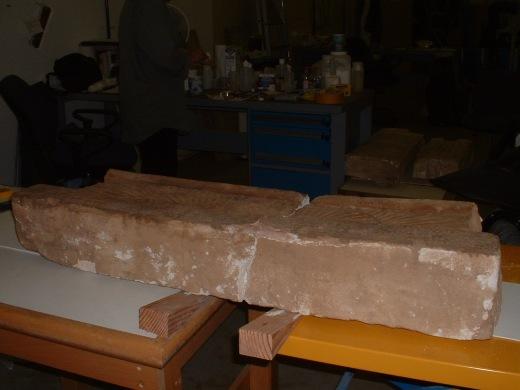 Conserving a limestone lintel piece from Sudan