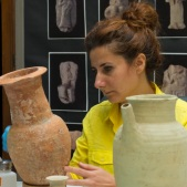 Conserving ceramic vessels from Ur, Iraq (copyright of the British Museum).