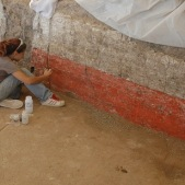 Conserving wall paintings at Catalhoyuk, Turkey