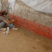 Conserving wall paintings at Catalhoyuk, Turkey